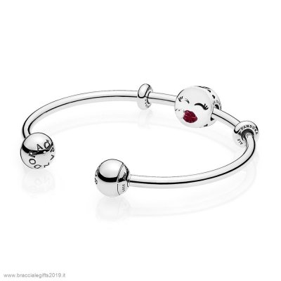 Sconti Pandora Cute Bacio Open Bangle Regalo
