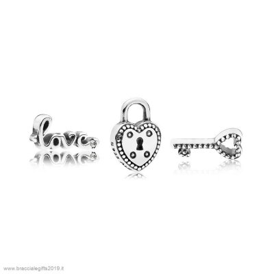 Sconti Pandora Key To My Heart Petite Charm Pack