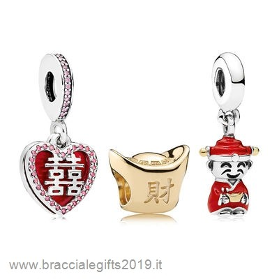 Sconti Pandora Happiness Fortune And Luck Charm Pack